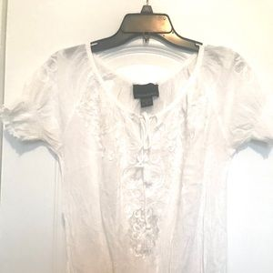 Cynthia Rowley cotton and lace blouse